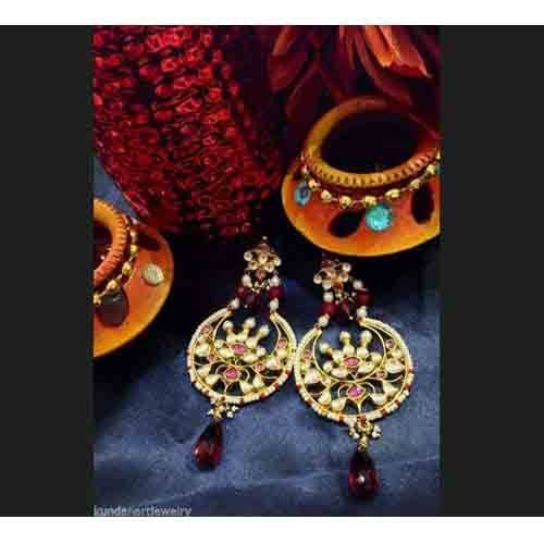 Chandelier earrings indian gold plated bollywood bridal teenas chandelier earrings indian gold plated bollywood bridal aloadofball Images
