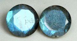 Labradorite Faceted Round Gemstone