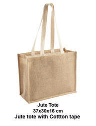 Jute Tote Bag With Cotton Tape