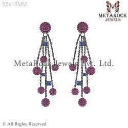 Chandelier Jhumka Design Gemstone Earring