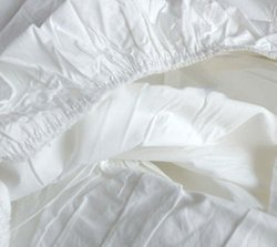 White Cotton Plain Fitted Bed Sheet