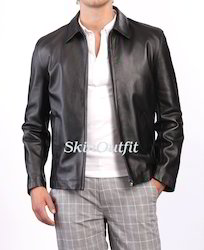 Mens Real Sheep Leather Jacket