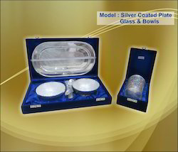 Silver Coated Plate Glass and Bowls
