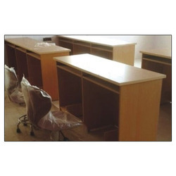 Brown Rectangular Wooden College Table