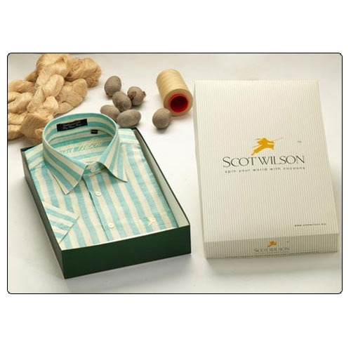Formal Wear Mens Designer Silk Shirts, Packaging Type: Box