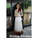 White Faux Georgette Salwar