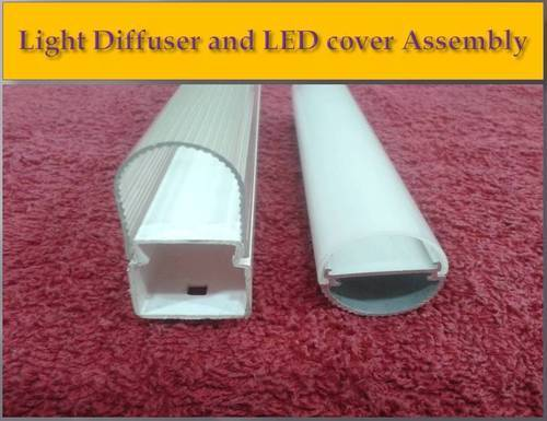 Light Diffuser And LED Cover Assembly - S  M  Extrusions