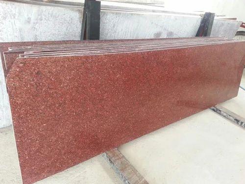 Shine Enterprises Big Slab CK Red Granite Stone, Thickness: 15-20 mm