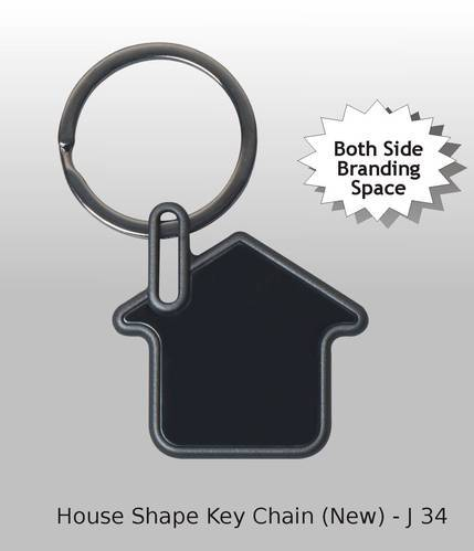 House Shape Key Ring - 2 Side Printing Space - Solutions