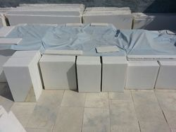 600 X 600 Unpolished Makrana White Marble Tiles, Thickness: 16 mm, Tile