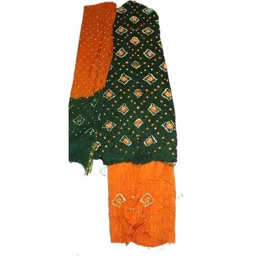31580e15cf Bandhani Cotton Dress Material, Cotton, Wool Textiles & Fabrics ...