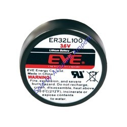 Eve Er32l100 Coin Battery 3.6v Lithium Battery
