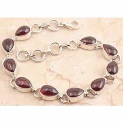 Blushing Garnet Bracelet in 925 Sterling Sliver