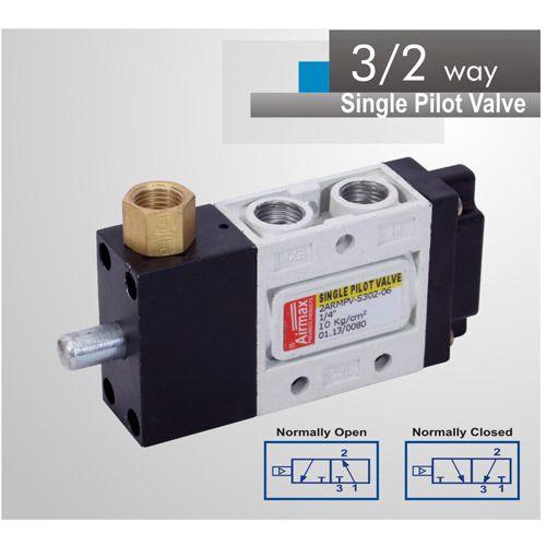 Pneumatic Direction Control Valve 3 2 Way Single Pilot