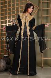 Black Abaya Maxi Dress