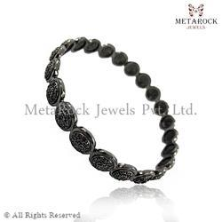 Pave Setting Black Diamond Handmade Bangles