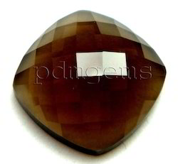 Smoky Quartz Rose Cut Cushion Fancy Gemstone