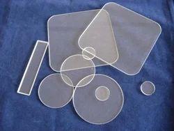 Transperant Techinstro Quartz Products Plate, Size: 100mm X 100mm