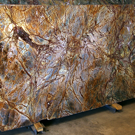 Rainforest Brown Granite Slabs