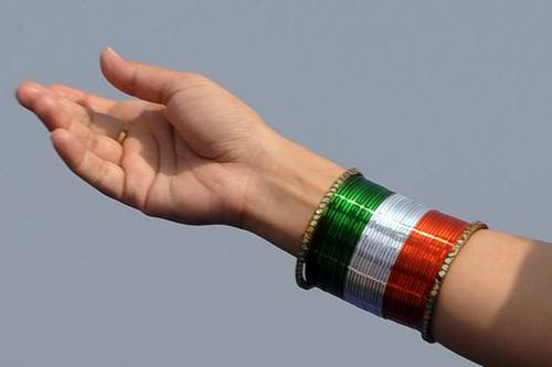 Image result for republic day bangles designs,nari