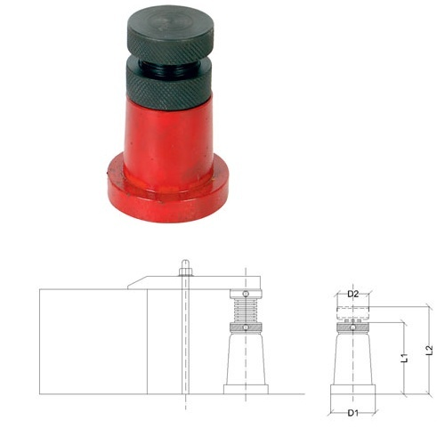 Support Jack Round Base type with Lock Nut