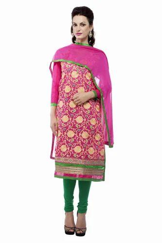 bf757962e88 Unstitched Suit - Unstitched Embroidery Suit Dupatta Exporter from Delhi