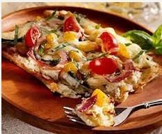 Vegetable Pizza With Patato Crust