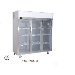Refrigerator With Three Glass Door