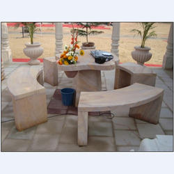 Carved Sandstone Table