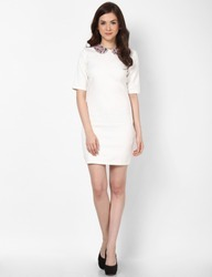 Formal Dress with an Embellished Collar