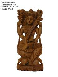 Sandalwood Goddess Idol