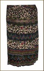 Printed Sanganeri Skirt