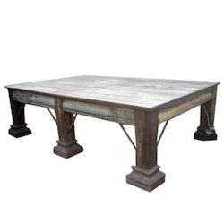 Antique Wooden Dining Table Re Purposed