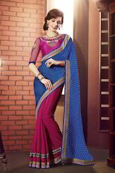 Fashionable Embroidery Saree