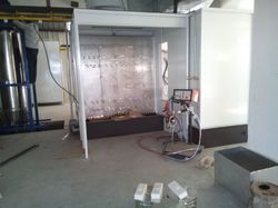 Electrostatic Liquid Spray Paint Booth