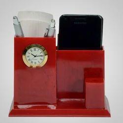 Analog Plastic Designer Table Clock, Packaging Type: Box