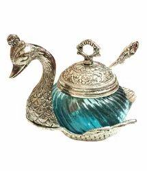 Metal Swan Bowl