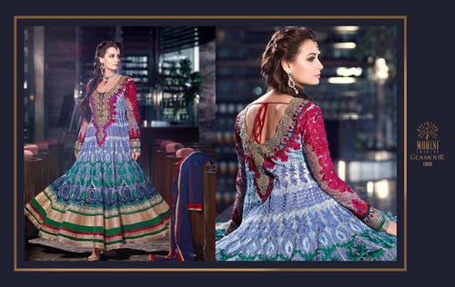 Georgette Semi-Stitched Anarkali Suits