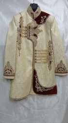 38 Light Golden Indo Western Sherwani