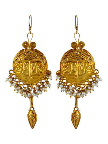 Egyptian Gold Plated Silver Earring