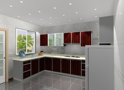 Ceramic L - Shaped Kitchen