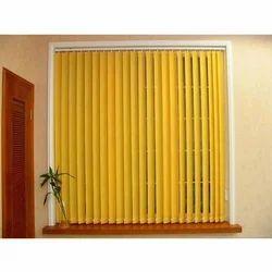 Yellow PVC Vertical Blind