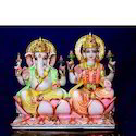 Ceramic Ganesh Laxmi Together Statue