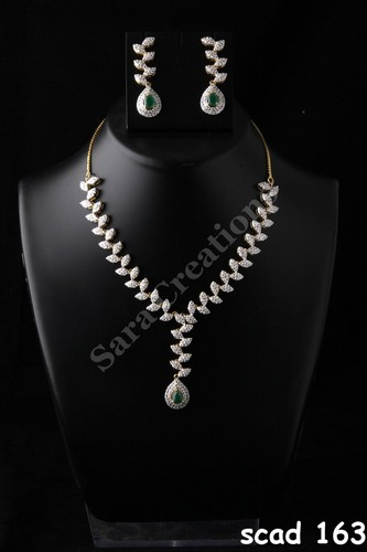 Unique design diamond necklace set sara creations navi mumbai unique design diamond necklace set aloadofball Images