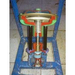 Cut View Of Globe Type Control Valve