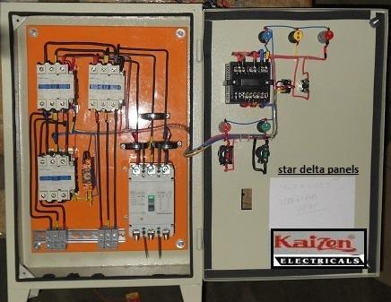 stardeltamotorcontrolpanel 500x500 star delta motor starter control panel manufacturer from ahmedabad 3 Phase Wye Wiring at bakdesigns.co