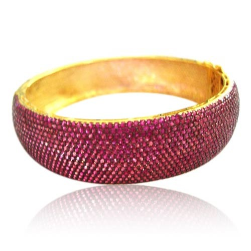 The Mask Jewellery Ruby Studded Pave Bangle
