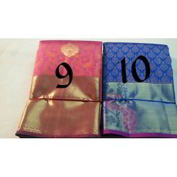 Silk Designer Sarees with Blouse Piece, Length: 6.3 m