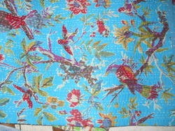 Hand Stitched Printed Kantha Quilt