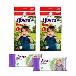 Combo Offer - 2 Libero Pants Large 36 (9-14kg) + 2 Libero Wi
